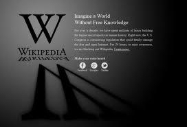 Wikipedia contra la SOPA